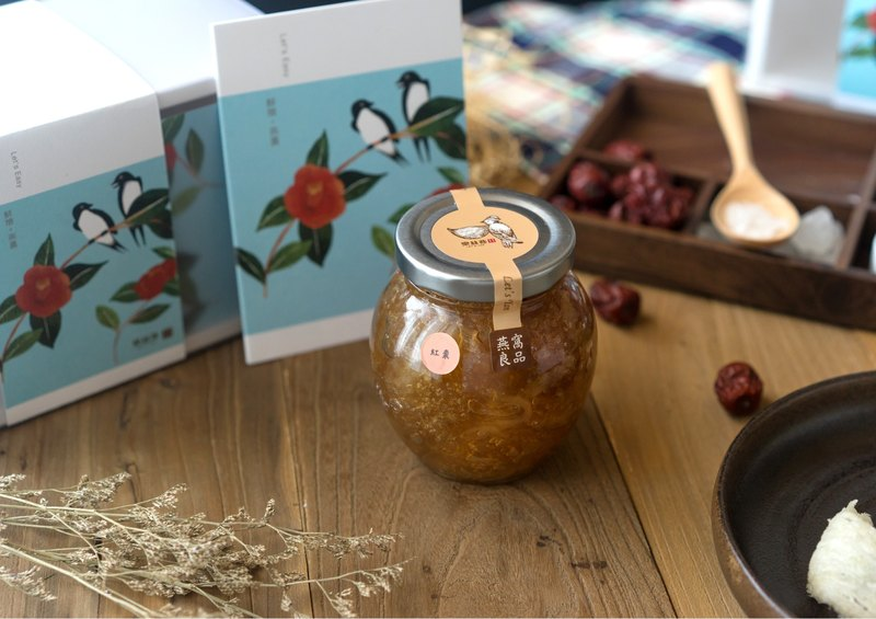 Fresh stewed bird's nest gift box ready-to-eat Yanqi red jujube flavor female light mature age menopause maintenance nutrition