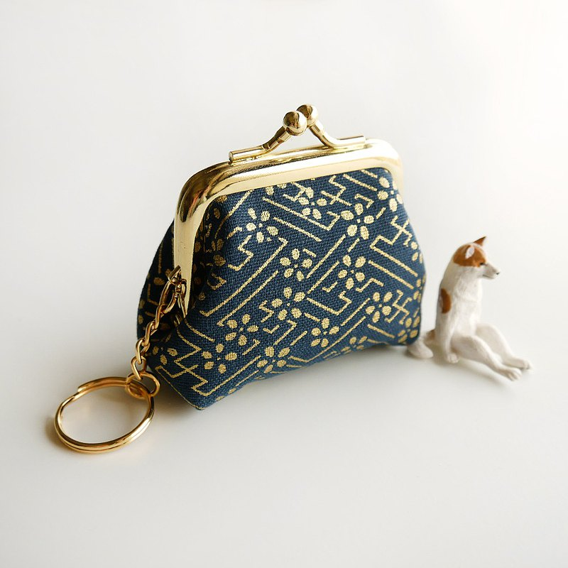 Ukiyo golden flower small belly belly mouth gold bag / coin purse【Made in Taiwan】