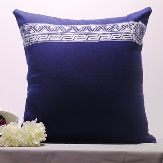 Batik geometric pattern hand-plant printing and dyeing cotton pillowcase