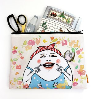 Pool party /  zipper accessories pouch