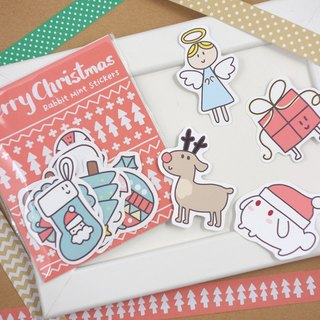 Rice fried rice cake Rabbit Christmas stickers