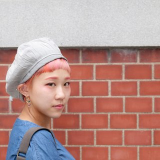 splendor_grey color pleated beret. limited edition