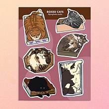 Sticker Sheets - Cat in the Box