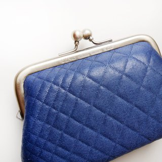 Royal blue big mouth coin purse / mouth gold bag [made in Taiwan]