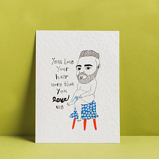1103 | Love your hair | Postcard | Funny