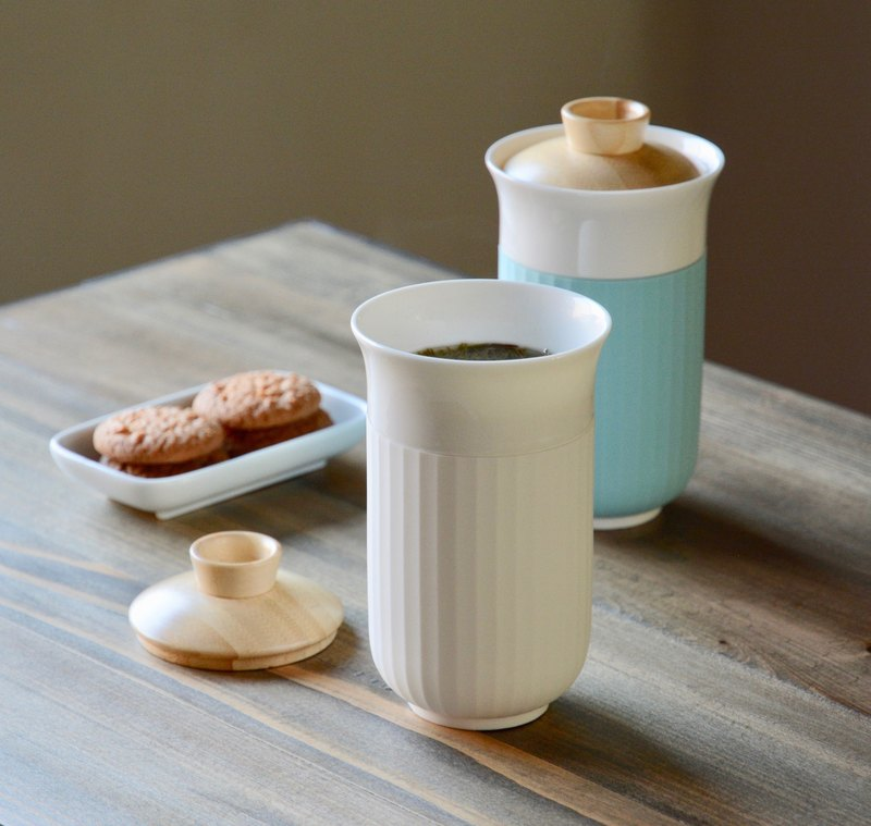 Jade porcelain cover cup coffee cup |