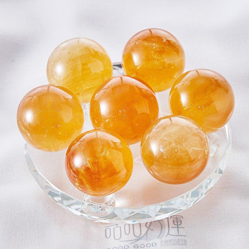天然黃水晶七星陣12cm(含開光)偏財運、事業運、招貴人、風水