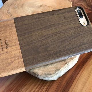 iPhone 7 / iPhone 7 plus pine wood single cover phone case (dark coffee)
