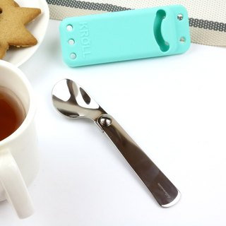 【KROLL】 pure titanium can be folded outside the spoon (with storage)