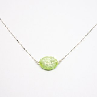 Light green crystal necklace 【Pio by Parakee】草緑水晶項鍊