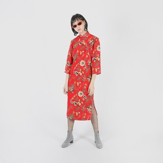 [Egg plant ancient] Yang Cai rouge printing improved ancient cheongsam