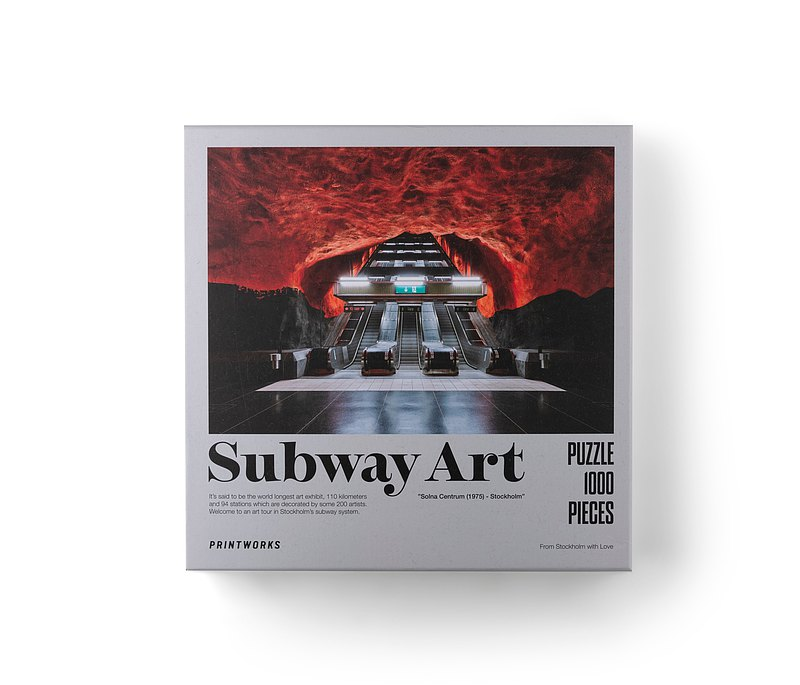 Printworks Puzzle - Subway Art Fire 1000-pieces (70x50 cm)