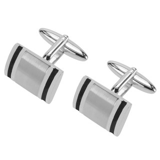 Black Enamel Border Cufflinks
