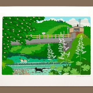 Taberneck Illustration Print (A3 size) | 18. Cross the summer river | Art poster