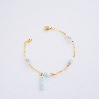 Warm - Bracelet - Natural Stone Freshwater Pearl Water Blue Suffered Bracelet