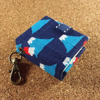 [Japan, Mount Fuji] 4 colors (dark blue) Mini phase key ring 5cmX4.3cm - custom small things