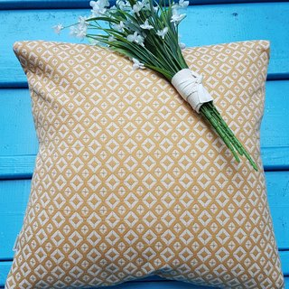 Nordic style retro yellow geometric pattern pillow / pillow
