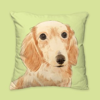 [I will love you forever] classic dachshund dog animal pillow / pillow / cushion