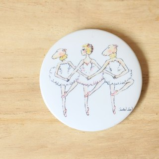 Three little lambs jump Swan Lake magnetic badge