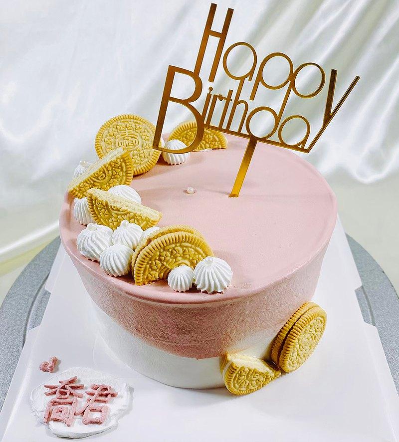 粉愛粉愛妮 生日蛋糕  客製蛋糕 母親節  4 6 8吋  限台南面交