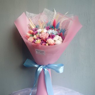 Huali Collection - Silent Pink Quartz Blue First Love Wing Dry Bouquet (Standable) Valentine's Day