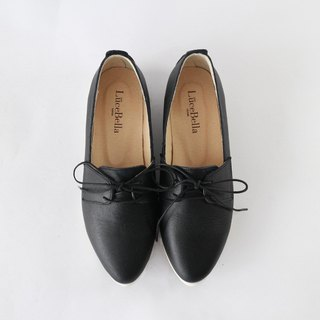 【Mordern Cupid】  Derby shoes -  black - real leather handmade shoes
