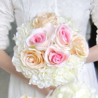 Wedding flower bouquet, bridal bouquet, briidesmaid bouquet B009