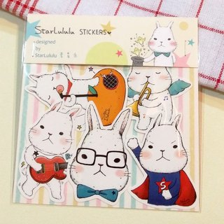 Waterproof sticker / Meng Meng rabbit / Group 4 (5 in)