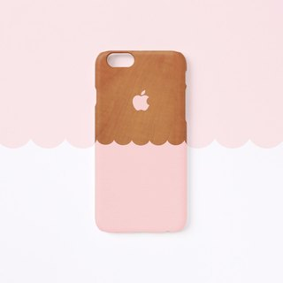 iPhone case - Wave : Indian pink wood pattern - for iPhones - matte L08