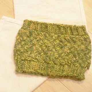 Lan hand-made knit headband (mohair yarn mustard yellow)