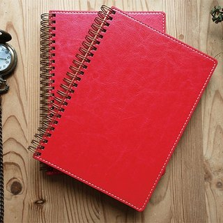 Spiral Planner-PU leather-Red