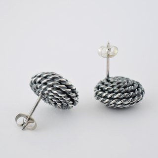 spangle earrings (L) = silver 950 earrings =