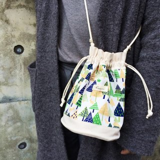 Nordic Forest / Japanese Cotton print / Shoulder bag  crossbodies  bucket bag