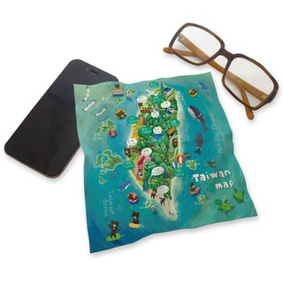 Printed Universal Cloth - Taiwan Island (around the sea) ll Wipe cloth