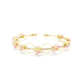 Fluorescent Beads 16K Gold Copper Pamycarie Bangle