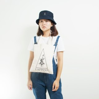 L'appeso Classic Logo Thick canvas bag