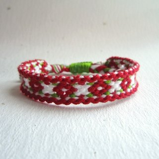 Meet the small flower lucky rope woven bracelet (optional color)