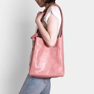 Influxx Loop Basic Leather Hobo Bag - Pink