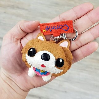 Skillful cat x city cat Bomei fox terrier tricolor puppet hanging ornaments key ring birthday gift