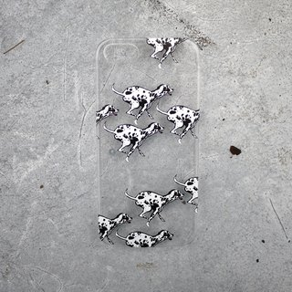 Run Dalmatian transparent phone case