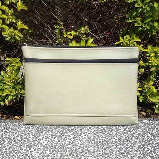 | T24G | double zipper small laptop package - gray-green