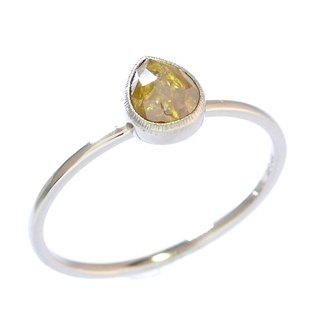 "Japan Quality | 0.61ct Natural Diamond Stacking Ring ""Honey"" 14K WG"
