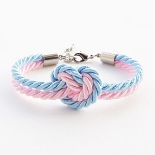 Blue and pink heart knot - trend color in 2016 - pantone