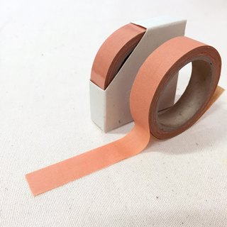 Cloth tape - spring solid color 【thin persimmon】