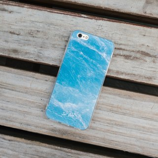 Original Blue Real Marble Phone case (iPhone,Samsung model) with hard shell back case
