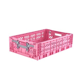 Turkey Aykasa Folding Storage Basket (L15) - Barbie Powder