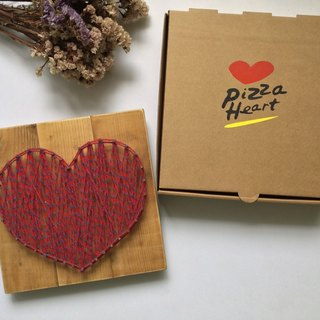 [6618 yo tail] Limited Pizza Heart weapon confession creative gifts handmade wooden jewelry love Valentine's Day birthday gift