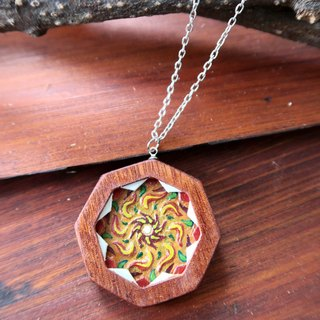 Hand Engraved Embossed Wood Carved Orange Mandala Mandala
