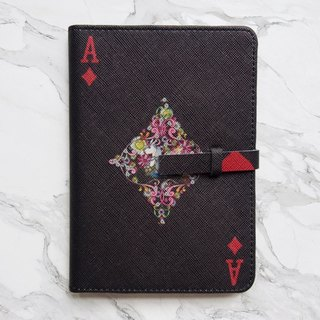 Diamond Card Passport Cover Case [Black] - The Magician Collection
