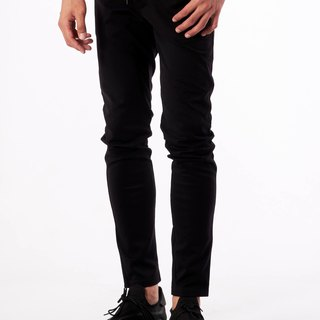 Metro style knitted elastic trousers
